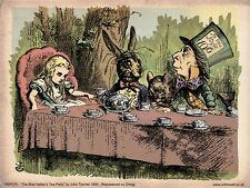 Alice in Wonderland Mad Hatter Party by John Tenniel  Art Print Poster (PDP 078)