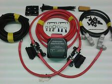 4mtr Twin Battery Split Charge Kit 12V 140a M-Power VSR 110a Ready Made Leads