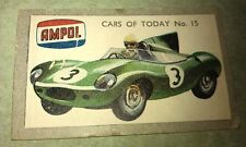 1958 JAGUAR D TYPE  Race Car  Australian AMPOL Oil Swap Card