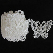 1Yard Retro White Butterfly Crochet Lace Edge Trim Ribbon Sewing Wedding Crafts