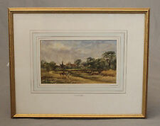 19th Century Watercolour English Countryside by A J Stark 1831-1902
