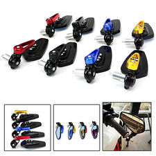"""Universal Motorcycle 7/8"""" 22mm Handle Bar End Rearview Side Mirrors"""