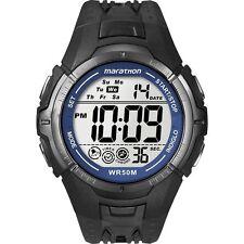 Uomo Nero Ironman maratona Digitale Cronografo Timex T5K359 Allarme Orologio da polso