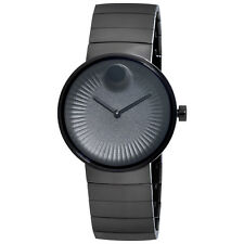 Movado Edge Black IP Stainless Steel Mens Watch 3680007