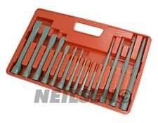 14pc Heavy Duty Taper, Pin, Centre Punch And Cold Chisel Garage Tool Set New