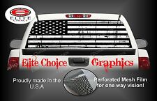 Black and White Distressed Flag Rear Window Graphic Decal Sticker Truck Van Car