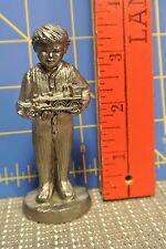 1992 Ricker Boy with Toy Train Pewter