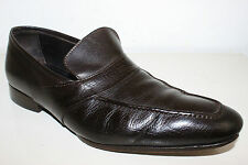 CANALI BROWN LEATHER MENS SHOES SIZE 42  US 9