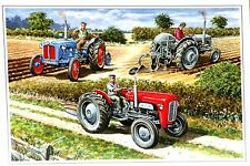 Tractor Ploughing Match  Blank Greetings Card from an Original  Watercolour