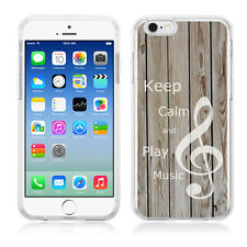 Flexible TPU Phone Case for Apple iPhone 6 / 6s - Wood Texture / Music Note