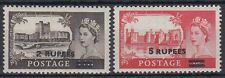 Muscat oman bpaea 1955/57 ** sg 56/57 mnh Wilding Castle Stamps
