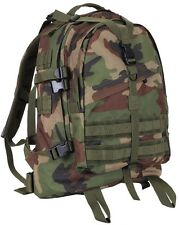 LARGE WOODLAND CAM Military Style Medical Transport MOLLE Assault Back pack 7684