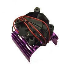 Alloy Heat Sink for 540 550 Motor DC 5V Cooler Fan for 1:10 RC Model Car Lila