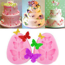 1Pc Pink Butterfly Elegant Chocolate Silicone Fondant Mold Flexible Convenience