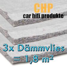 3x Dämmvlies 1,8m² selbstklebend CHP 10mm KFZ Schalldämmung PKW 3 Matten