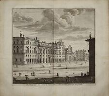 incisione stampa antica Propaganda Fide roma Deseine 1704 old print gravure