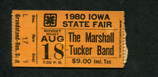 1980 Marshall Tucker Band concert ticket stub Iowa State Fair Can't You See