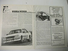 HOLDEN VC HDT BROCK COMMODORE PREVIEW & DRIVE MAGAZINE ARTICLE