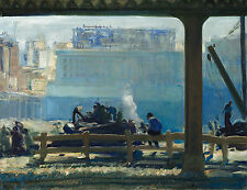 Images of America: George Bellows: New York - Blue Morning - Fine Art Print
