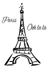 EIFFEL TOWER Paris France Ooh La La Vinyl Wall Mural Decor Decal Sticker Large