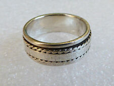 925 Sterling Silver Spinner spinning wedding Band Ring Size 10