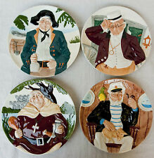 Davenport Pottery Co. Hand Painted Toby Plate Collection Set of 4 four