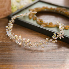 Wedding Bridal Crystal Flower Pearl Headband Hair Accessories Tiara Jewelry Band