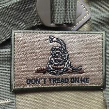 DONT TREAD ON ME USA ARMY MILITARY TACTICAL MORALE SWAT DESERT VELCRO PATCH
