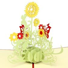 3D Pop Up Greeting Cards Sunflower Birthday Mother Day Thank You Christmas