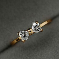 Elegant Woman Delicate Fashion  18K Gold Plated Finger Bow Charming Rings