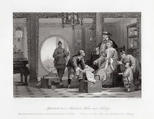 "1800s THOMAS ALLOM SIGNED Engraving ""Life in the Qing Dynasty Era"" FRAMED COA"