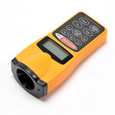 Accurate LCD Ultrasonic Laser Meter Pointer + Distance Measurer Range 60FT 18m