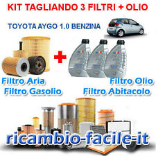 KIT TAGLIANDO TOYOTA AYGO 1.0 BENZINA FILTRI + 3 LT OLIO Q8 10W40 50 KW 68 CV
