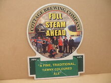 Cottage Brewing Full Steam Ahead Ale Beer Pump Clip Pub Bar Collectible 7