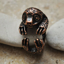 Antique Copper Plt Sloth Ring  / Thumb Ring Adjustable Men Ladies Gift Wildlife