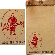 Carnet d'addition épicerie bistrot Le Zouave Auguste Hicher à Carpentras