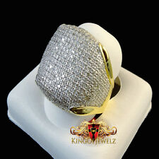 10K Men Yellow Gold 1.00 ct. Round Cut Diamond Engagement Ring Pave Wedding Band