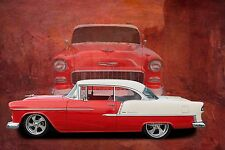 1956 Chevy Bel Air 24X36 inch poster, sports car, muscle car