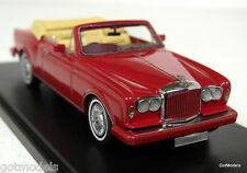 Neo 1/43 Scale - 44150 Bentley Continental Convertible 1985 red Resin model car
