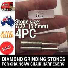 4 X 7/32 DIAMOND GRINDING STONES FOR CHAINSAW CHAIN SHARPENER OREGON STIHL ETC