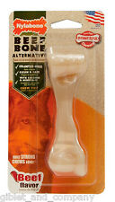 NYLABONE MINI BEEF BONE - Tough Strong Durable Nylon Made USA Chew Dog Toy