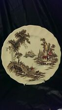 "Johnson Brothers The Old Mill 10"" Dinner Plate in Excellent Condition"