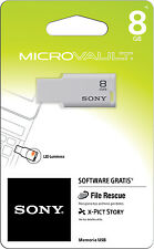 Sony 8GB MicroVault USB 2.0 Flash Memory Pen Drive Thumb Stick USM8GM1/W
