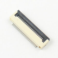 10 Pcs FPC FFC 0.5mm Pitch 28 Pin Flip Type Ribbon Flat Connector Bottom Contact