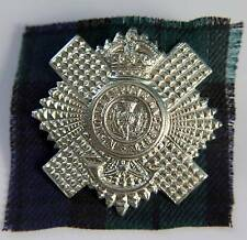 4th/5th Bn Royal Scots Regiment Cap Badge with Tartan - British Army Military