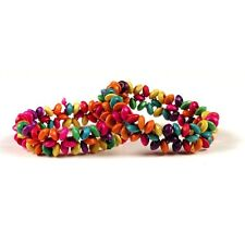 Two Bright Amazon Beaded Peru Seed Bracelet Fair Trade FREE shipping WORLDWIDE*