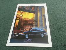 1988 FORD SCORPIO inc GHIA / 4x4 - SPANISH MARKET 38 PAGE BROCHURE Granada