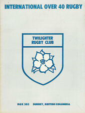 TWIGHLIGHTER RUGBY CLUB OVER 40s WELCOME TO WAK WAK, JAPAN CANADA RUGBY BOOKLET