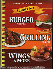 BURGERS Grilling WINGS Recipes COOKBOOK New GRILL Chicken BBQ Lamb BEEF Pork