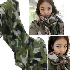 Celebrity Fashion OverSize Camouflage Prints Scarf Pattern Wrap Army Green